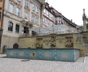 Fischbrunnen Schwäbisch Hall, Sehenswürdigkeiten, zum-hirsch-hotel.de, Hotel Zum Hirsch