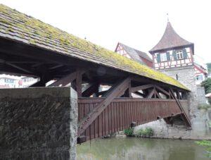 Holzbrücke, Steg, Schwäbisch Hall, zum-hirsch-hotel.de, Hotel und Restaurant